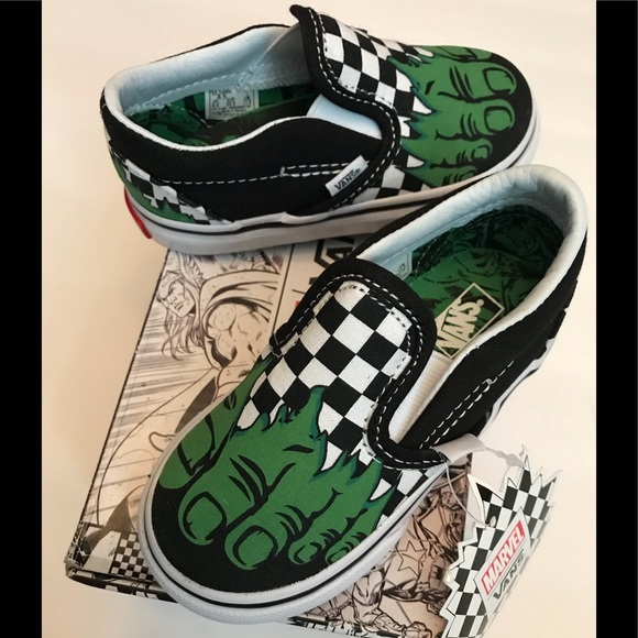 07830abc6ba129 NEW-Hulk VANS Baby Shoes 6.5